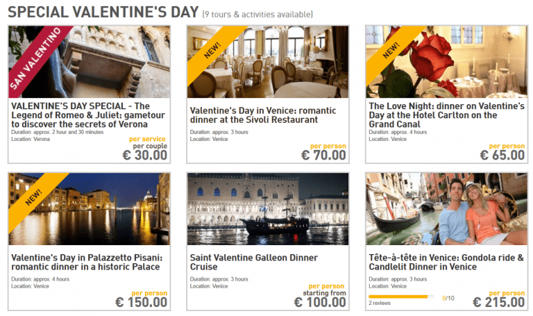 special Valentine's day offers
