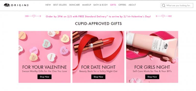 Origins Valentine's day page