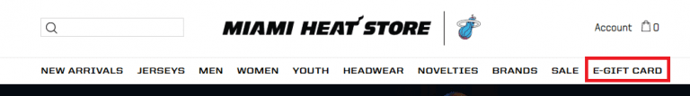 Miami Heat mother's day e-gift tab