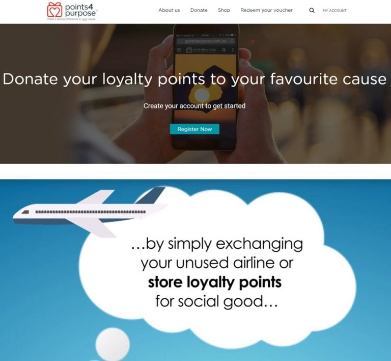 Points4Purpose loyalty program points transfers to donation