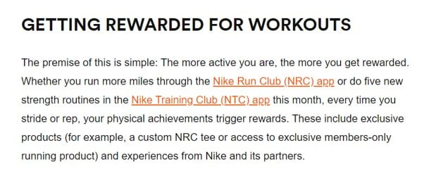 NikePlus loyalty program get fit rewards