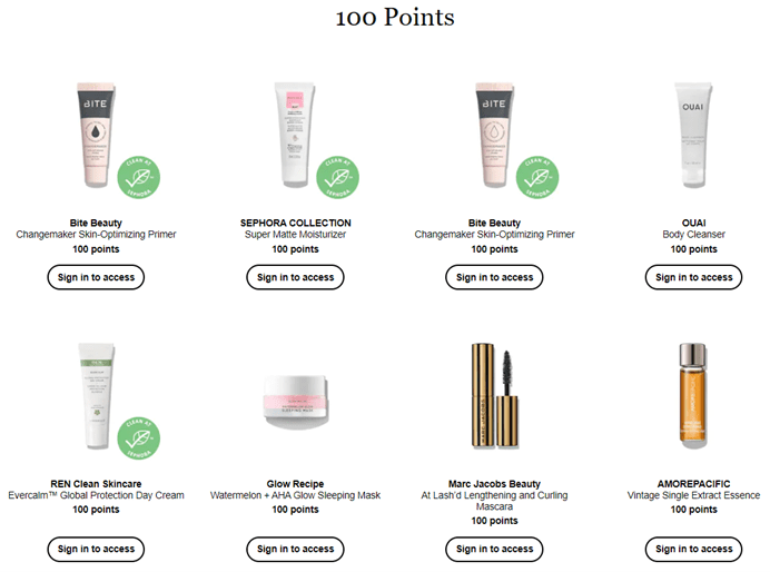 sephora rewards program