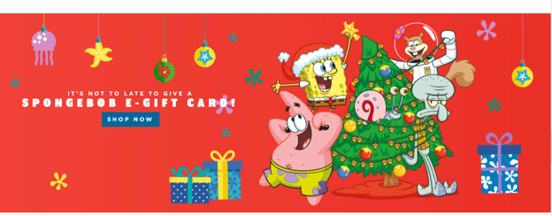 SpongeBob holiday campaign